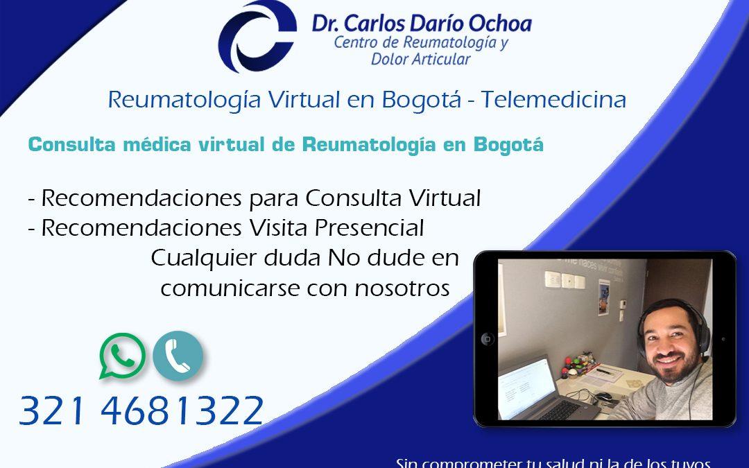 Consulta médica virtual de reumatología en Bogotá
